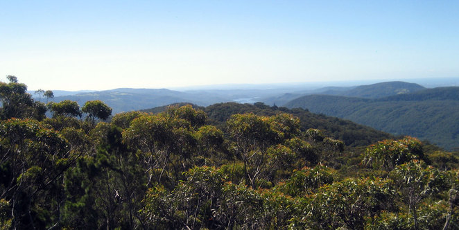 The view from the top of Surprise Rock on the Daves Creek Circuit