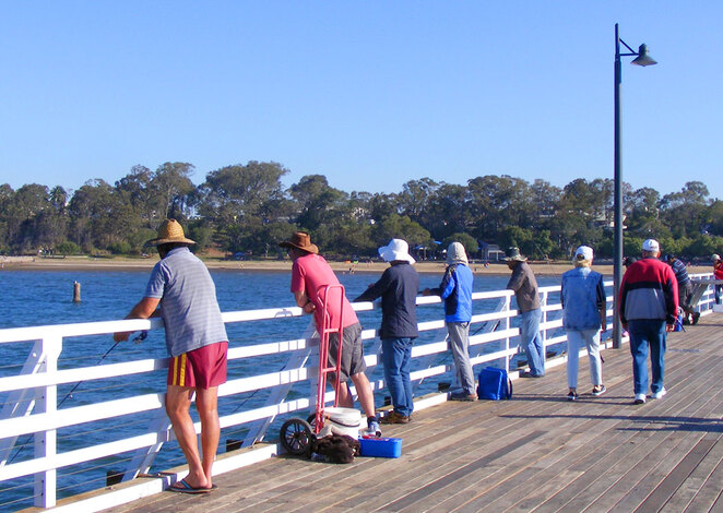 Fishing off Shorncliffe Jetty