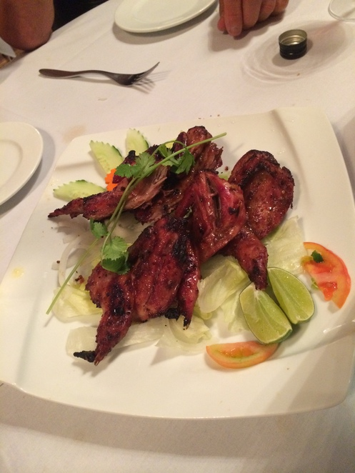 Grilled Quail in Authentic Herbs