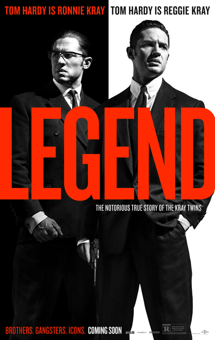 legend, tom hardy, emily browning, david thewlis, chazz palminteri, tara fitzgerald, taron egerton, christopher eccleston, movie review, film review, english film, foreign film, the krays, the kray twins, london crime thriller, universal pictures, ronnie kray, reggie kray
