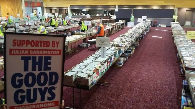 Lifeline Bookfair, second hand books, where to buy second hand books, second hand books Canberra, books, Canberra, Lifeline
