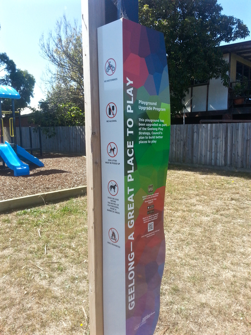 Lorikeet Close, Jabiru Close, Reserve, Playground, Park, Picnic Spot, Ocean Grove, Bellarine, Geelong, COGG, Council sign,