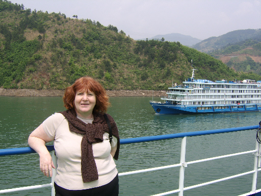 Margaret on board Yantze cruiseship