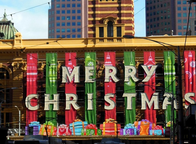 melbourne christmas flinders station