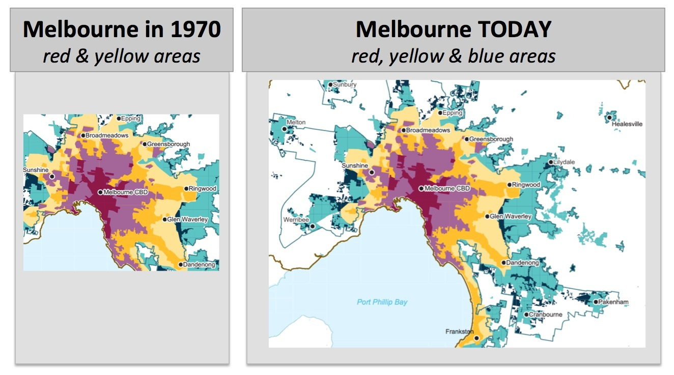 Maps Of Melbourne S Past Present And Future Melbourne By Geoff