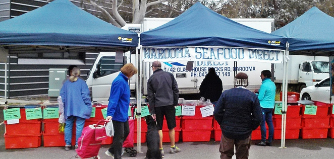 narooma seafood direct, southside farmers market, canberra, capital region farmers markets, seafood in canberra, prawns, canberra,