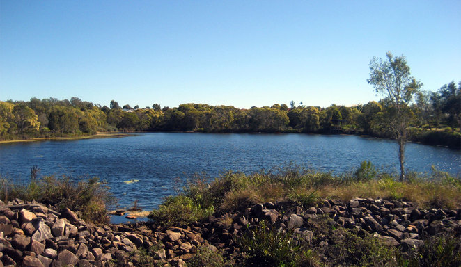 One of the many lakes between Chelmsford Road and Copeland Drive