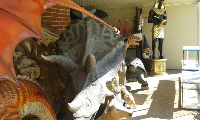 Statues for sale, Canberra Reptile Zoo, Gold Creek Village, Canberra
