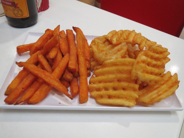 The Burgery, Waffle Chips and Sweet Potato Fries, Adelaide