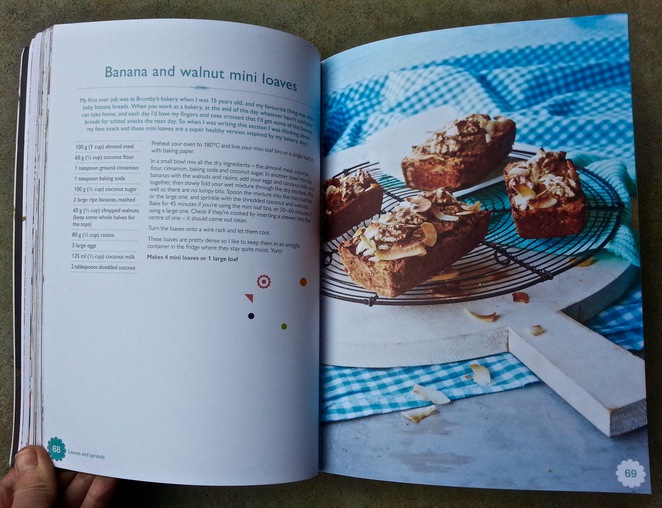 The Happy Cookbook, Lola Berry, Nutritionist, Gluten-free, sugar-free recipe book, Banana and walnut mini loaves