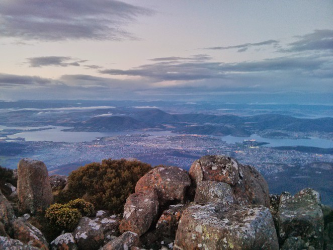 View from Mount Wellington
