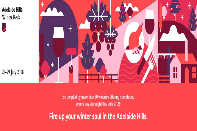 winter reds 2018, adelaide hills wine region, wine festival, community event, fun things to do, wineries, anderson hill, armchair pinot tasting, grenhill wines, penfolds truffle dinner, anderson hill, howard vineyard, petaluma wines, artwine, pike & joyce, barristers block wines, karrawatta wines, riposte wines, bird in hand, a taste of tuscany, landhaus wines, shaw and smith, cobbs hill estate, lobethal road, deviation road, longview vineyard, sidewood estate, marble hill wines, elysian springs, mt lofty ranges vineyard, the lane vineyard, nepenthe wines, fox gordon, ngeringa vineyards, tomich wines, o'leary walker wines, wicks estate, golding wines, paracombe
