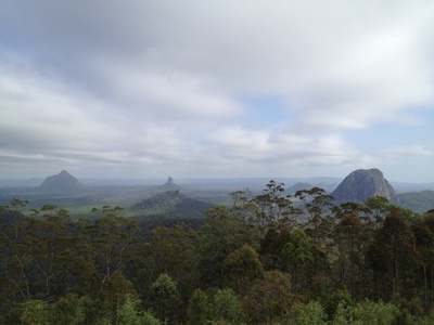 A few of the other Glass House Mountains - here you can see Mount Beerwah, Mount Coonowrin, Mount Ngungun and Mount Tibrogargan