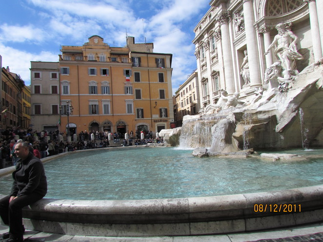 A Sunny March Day at Trevi Fountains, Rome
