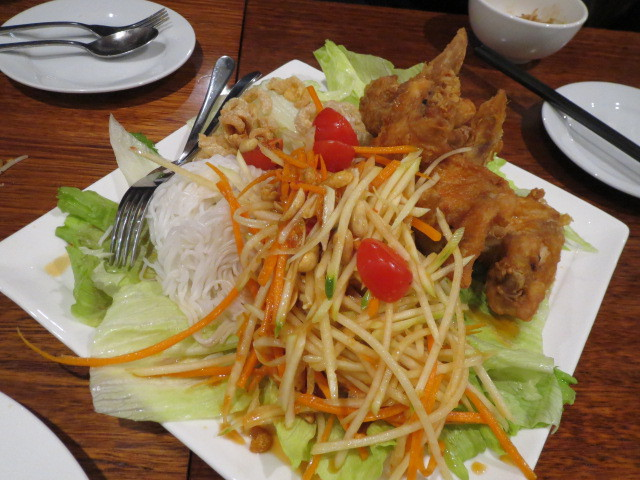 Aranya Thai Restaurant, Green Papaya Salad, Adelaide