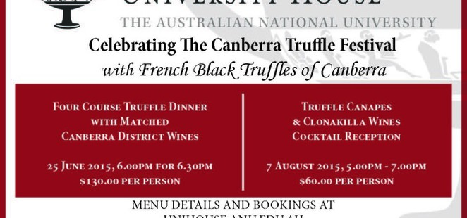 Australian National University Truffles events 2015