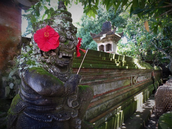 cravings and statues in balinese home