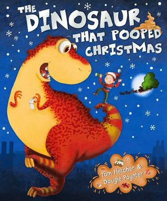 dinosaur poo, the dinosaur that pooped Christmas, Christmas books with dinosaurs, Christmas kids books, kids books with poo