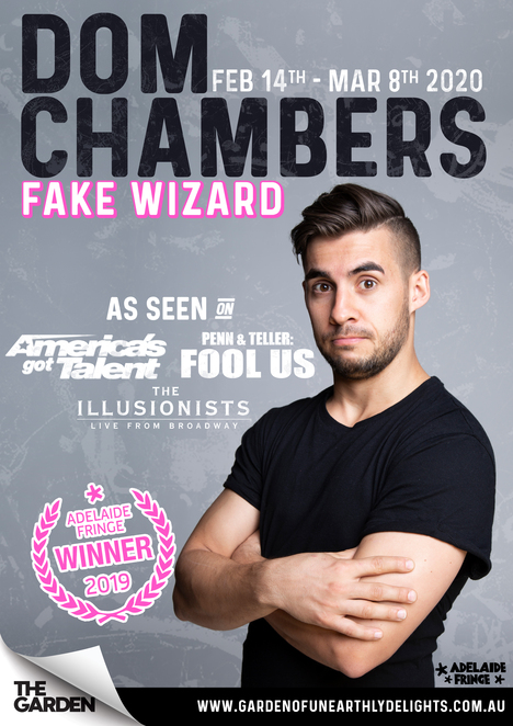 Dom Chambers, Fake Wizard, Magic, Review, Adelaide, Fringe