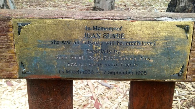 Donated bench in honour