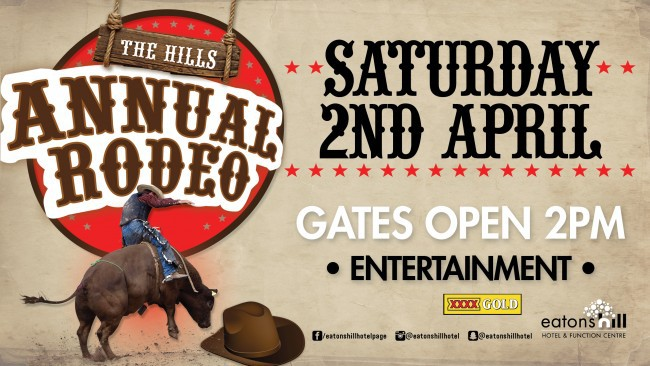Eatons Hill tavern, eatons hill hotel, the hills rodeo, april events