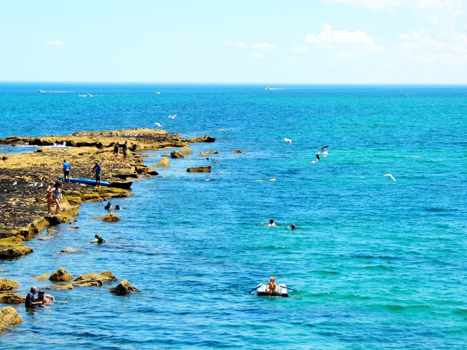 encounter marine park, best beaches in Adelaide, beaches in Adelaide, water sports, marine park, fun things to do, swimming, fishing, port noarlunga, port noarlunga reef