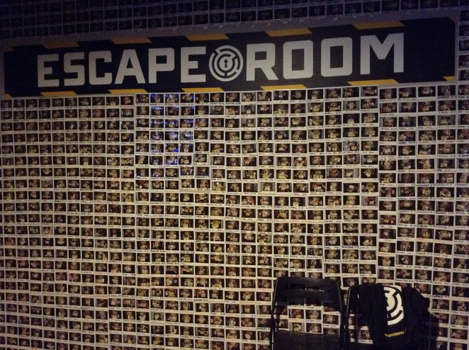 escape room wall photos