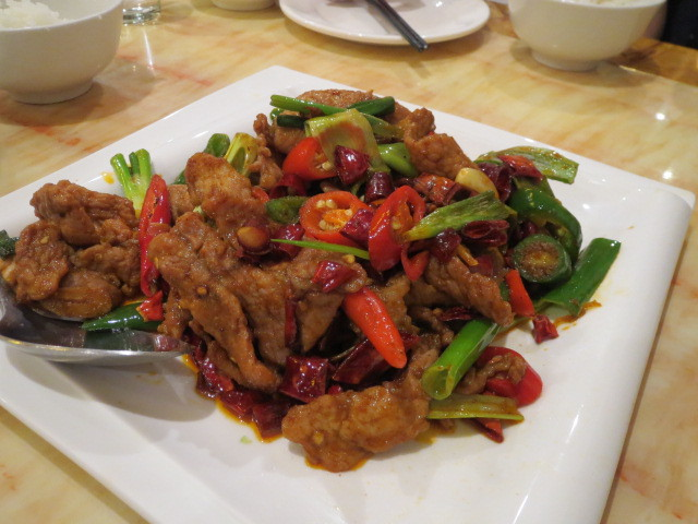 Go-In Chinese Restaurant, Stir-fried Pork Slices with Shallot, Adelaide