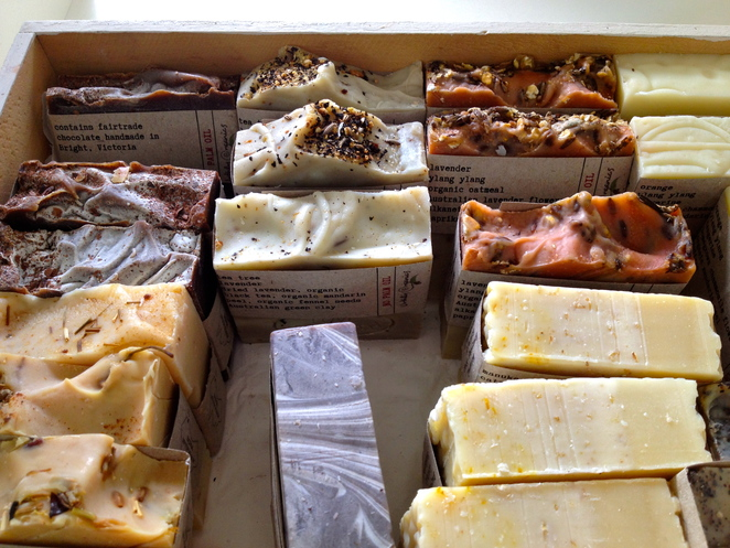 Handmade soap, Space2B Pop Up Shop, Carlisle Street