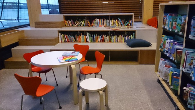 library at the Dock, Docklands library, libraries in Melbourne, free library in Melbourne, kids reading area, story telling for kids