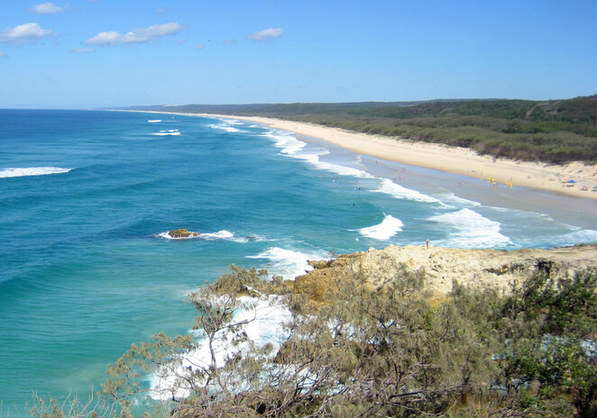 If you have a 4WD you can camp along the far southern half of this beach