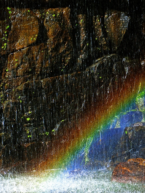 Morialta conservation park first falls adelaide waterfall rainbow