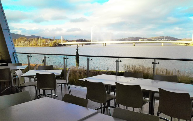 museum cafe, national museum of australia, best cafes with views over lake burley griffin, ACT, canberra, views, lunch, breakfast,