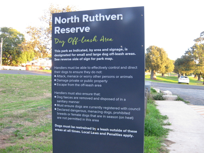 North Ruthven Reserve Dog Off Leash Rules Toowoomba