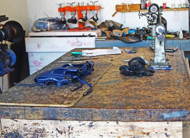 old work bench