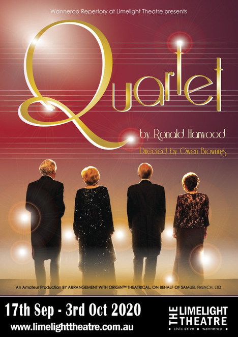 Quartet, Limelight Theatre, performing arts, opera singers, comedy, Dustin Hoffman, Billy Connolly, Maggie Smith, Pauline Collins, Tom Courtenay