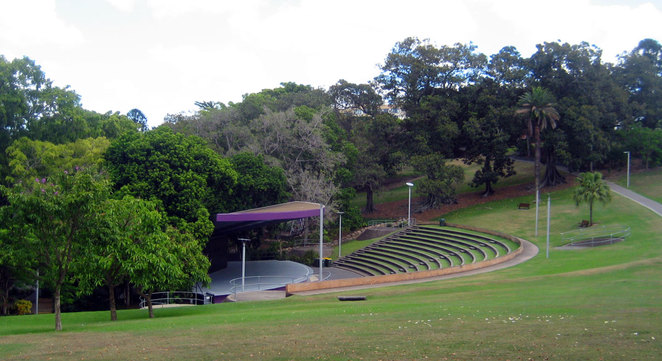 The amphitheater at the Roma Street Parklands