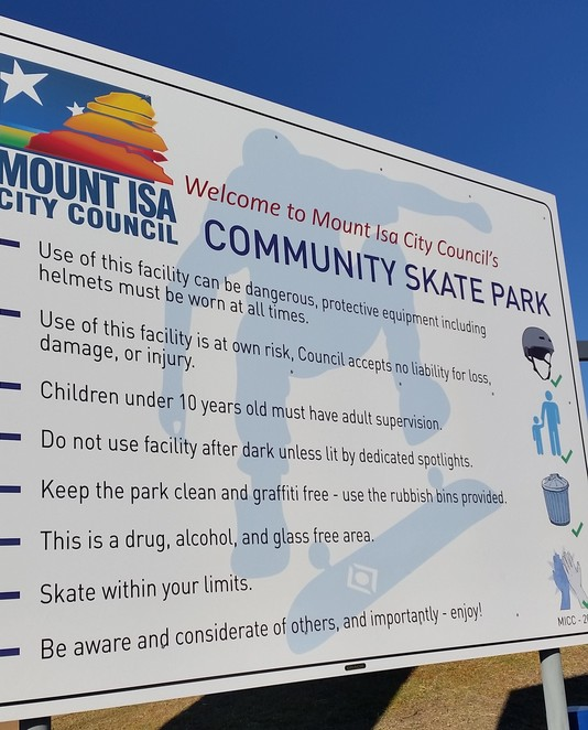 skate park, Mount Isa, Mount Isa Skate Park, yout and children activity, free
