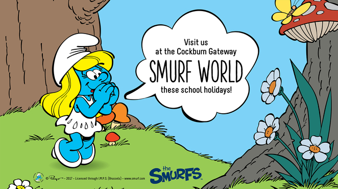 Smurf World, The Smurfs, Cockburn Gateways, School holidays Perth, free activities for kids Perth, school holidays south of Perth, shopping centre activities