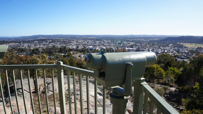 The view from the Mount Marlay Lookout in Stanthorpe