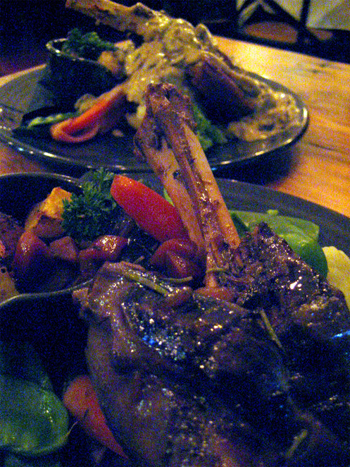 Lamb and steak served at the Commercial Boutique Hotel in Tenterfield