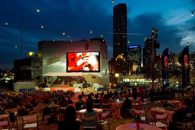 the big screen at fed square