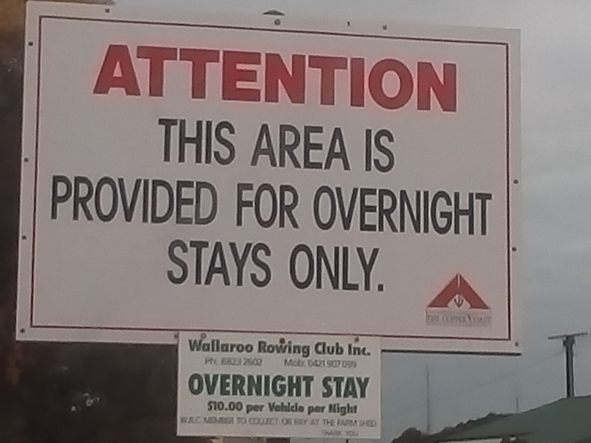 Wallaroo RV park, overnight stay, tourism, travel, motoring, grey nomads, free parking, RV stops, South Australia