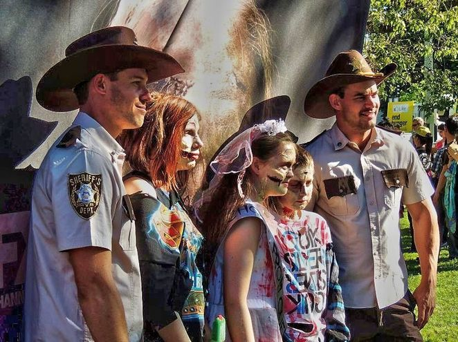 adelaide zombie walk, adelaide zombie walk 2017, zombie walk, in adelaide, rundle park, free, foodbank sa, market stalls, fun for kids, sheriff