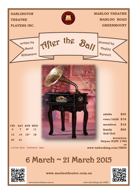 After The Ball, Marloo Theatre Hayley Derwort, Darlington Theatre Players, David Williamson
