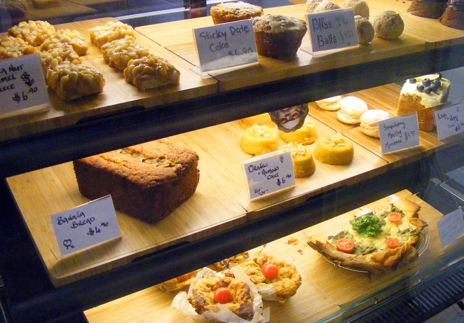 Some of the selection of cakes, snacks and light meals at Birrang Coffee