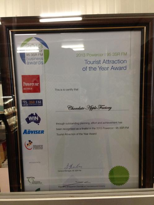 chocolate, apple, sweet, fruit, factory, dessert, snack, food, victoria, gouldburn valley, shepparton, award, tourism, attraction