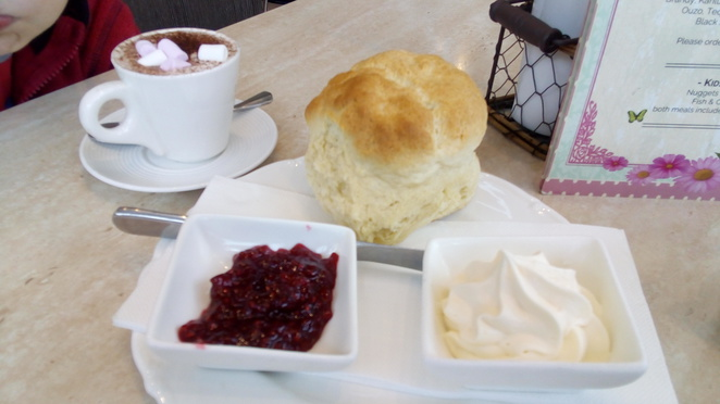 conservatory cafe scone morning tea babycino