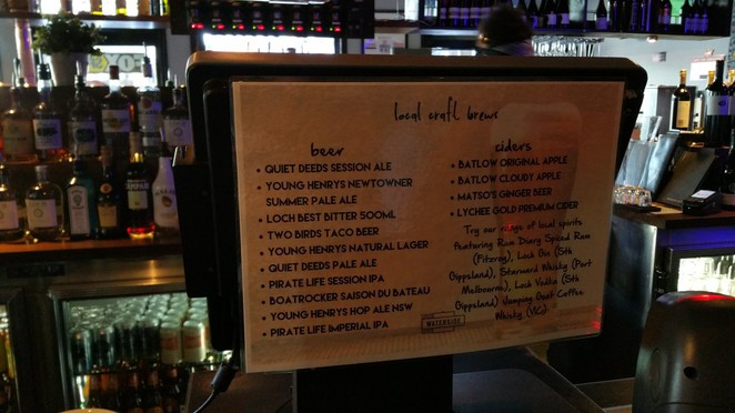 Craft Beer List at the WaterSide Hotel