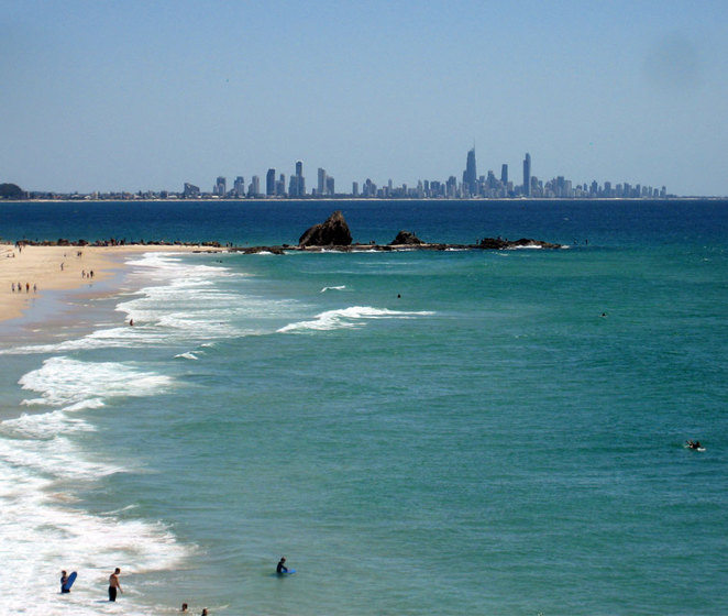 View from Elephant Rock at Currumbin Beach